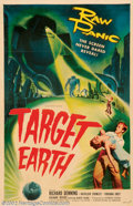 """Movie Posters:Science Fiction, Target Earth (Allied Artists, 1954). One Sheet (27"""" X 41""""). Very Fine on Linen. ..."""