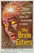 """Movie Posters:Horror, Brain Eaters, The (American International, 1958). One Sheet (27"""" X 41""""). One of the best posters and most gruesome graphics ..."""