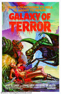 "Galaxy of Terror (New World Pictures, 1981). One Sheet (27"" X 41""). Roger Corman's science fiction thriller st..."