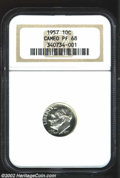 Proof Roosevelt Dimes: , 1957 10C PR 68 Cameo NGC. ...