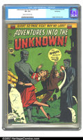 Golden Age (1938-1955):Horror, Adventures Into the Unknown #20 Bethlehem pedigree (ACG, 1951) CGCVF+ 8.5 Cream to off-white pages. Ogden Whitney cover. Ov...