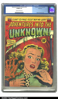 Golden Age (1938-1955):Horror, Adventures Into the Unknown #22 Bethlehem pedigree (ACG, 1951) CGCVF/NM 9.0 Cream to off-white pages. Ogden Whitney cover. ...