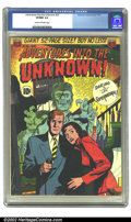 Golden Age (1938-1955):Horror, Adventures Into the Unknown #25 (ACG, 1951) CGC VF/NM 9.0 Cream tooff-white pages. Overstreet 2002 NM 9.4 value = $210. ...