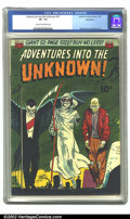 Golden Age (1938-1955):Horror, Adventures Into the Unknown #27 Bethlehem pedigree (ACG, 1952) CGCVF- 7.5 Cream to off-white pages. Williamson and Krenkel ...