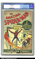 Silver Age (1956-1969):Superhero, The Amazing Spider-Man #1 (Marvel, 1963) CGC VF- 7.5 Cream to off-white pages. 1st app. J. Jonah Jameson and Chameleon; firs...