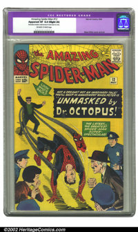 The Amazing Spider-Man #12 (Marvel, 1964) CGC Apparent VF 8.0 Slight (A) Off-white to white pages. Restoration includes:...