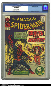 The Amazing Spider-Man #15 (Marvel, 1964) CGC VG/FN 5.0 Off-white to white pages. First appearance Kraven the Hunter, St...