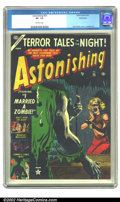 Golden Age (1938-1955):Horror, Astonishing #25 (Atlas, 1953) CGC VF- 7.5 Off-white pages. RussHeath cover, Crandall art. Overstreet 2002 VF 8.0 value = $1...