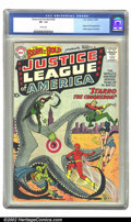 Silver Age (1956-1969):Superhero, The Brave and the Bold #28 (DC, 1960) CGC VF- 7.5 Cream pages.Origin and first appearance of the Justice League of America....