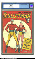 Golden Age (1938-1955):Superhero, Bulletman #2 (Fawcett, 1941). CGC VF- 7.5 Off-white to white pages. Mac Raboy cover. Overstreet 2002 VF 8.0 value = $938....
