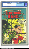 Golden Age (1938-1955):Horror, Clutching Hand #1 (ACG, 1954) CGC VF/NM 9.0 Off-white pages.Overstreet 2002 NM 9.4 value = $350....