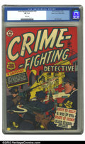 Golden Age (1938-1955):Crime, Crime-Fighting Detective #18 Mile High pedigree (Star Publications, 1952) CGC FN 6.0 White pages. L.B. Cole cover. Overstree...