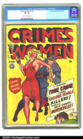 Golden Age (1938-1955):Crime, Crimes by Women #2 (Fox, 1948) CGC FN- 5.5 Cream to off-white pages. Overstreet 2002 FN 6.0 value = $197. ...
