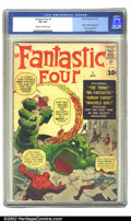 Silver Age (1956-1969):Superhero, Fantastic Four #1 (Marvel, 1961) CGC VG 4.0 Cream to off-white pages. Origin and first appearance of the Fantastic Four; Jac...
