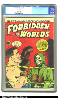 Forbidden Worlds #26 (ACG, 1954) CGC VF 8.0 Off-white pages. Overstreet 2002 VF 8.0 value = $83