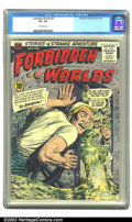Silver Age (1956-1969):Horror, Forbidden Worlds #41 (ACG, 1956) CGC VF+ 8.5 Off-white pages.Overstreet 2002 VF 8.0 value = $55. ...