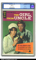 Silver Age (1956-1969):Adventure, Girl From U.N.C.L.E. #1 (Gold Key, 1967) CGC NM 9.4 Off-white to white pages. Overstreet 2002 NM 9.4 value = $120....