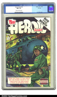 Heroic Comics #76 File copy (Eastern Color, 1952) CGC NM+ 9.6 Cream to off-white pages. Overstreet 2002 NM 9.4 value = $...