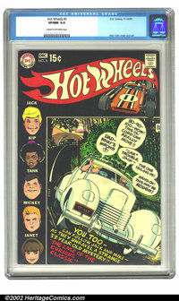 Hot Wheels #5 (DC, 1970) CGC VF/NM 9.0 Cream to off-white pages. Alex Toth cover and art. Overstreet 2002 NM 9.4 value =...