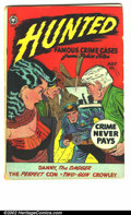 """Golden Age (1938-1955):Crime, Hunted #13 (Fox, 1950). Used in SOTI, """"Treating police contemptuously, plus is has a fantastic bondage cover! G/VG...."""