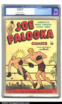 Joe Palooka Comics #1 (Harvey, 1945) CGC VF/NM 9.0 Off-white to white pages. Overstreet 2002 NM 9.4 value = $475