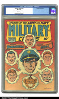 Golden Age (1938-1955):War, Military Comics #26 (Quality, 1944) CGC VF- 7.5 Off-white pages.Overstreet 2002 VF 8.0 value = $388....