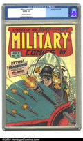 Golden Age (1938-1955):War, Military Comics #30 (Quality, 1944) CGC VG/FN 5.0 Off-white towhite pages. Overstreet 2002 GD 2.0 value = $62; FN 6.0 value...
