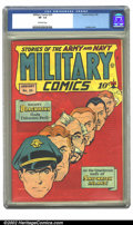 Golden Age (1938-1955):War, Military Comics #35 (Quality, 1945) CGC VF- 7.5 Off-white pages.Overstreet 2002 VF 8.0 value = $331....