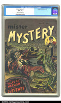 Golden Age (1938-1955):Horror, Mister Mystery #1 (Aragon Magazines, Inc., 1951) CGC VG+ 4.5 Creamto off-white pages. Overstreet 2002 GD 2.0 value = $86; F...