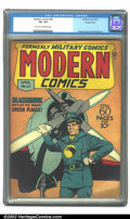 Golden Age (1938-1955):War, Modern Comics #60 Crowley copy (Quality, 1947) CGC VF+ 8.5 Lighttan to off-white pages. Reed Crandall and Bill Ward art. Ov...