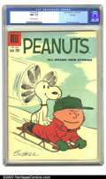Silver Age (1956-1969):Humor, Peanuts #7 (Dell, 1960) CGC NM+ 9.6 Off-white pages. Overstreet 2002 NM 9.4 value = $80....