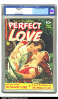 Golden Age (1938-1955):Romance, Perfect Love #3 (Ziff-Davis, 1951) CGC NM 9.4 Off-white to whitepages. Overstreet 2002 NM 9.4 value = $85. ...