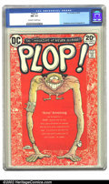 Modern Age (1980-Present):Humor, Plop #1 (DC, 1973) CGC NM 9.4 Off-white to white pages. Wolvertoncover, Aragones art. Overstreet 2002 NM 9.4 value = $14. ...