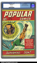Golden Age (1938-1955):Miscellaneous, Popular Comics #60 Mile High pedigree (Dell, 1941) CGC NM 9.4 Off-white pages. Origin and first appearance of Supermind. Ove...