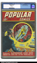 Golden Age (1938-1955):Miscellaneous, Popular Comics #62 Mile High pedigree (Dell, 1941) CGC VF/NM 9.0 Off-white pages. Overstreet 2002 VF 8.0 value = $110; NM 9....