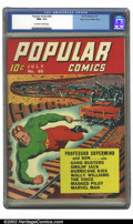 Golden Age (1938-1955):Miscellaneous, Popular Comics #65 Mile High pedigree (Dell, 1941) CGC NM+ 9.6 Off-white to white pages. Overstreet 2002 NM 9.4 value = $180...