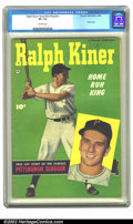 Golden Age (1938-1955):Non-Fiction, Ralph Kiner, Home Run King #nn (Fawcett, 1950) CGC VF- 7.5Off-white pages. Photo cover. Overstreet 2002 VF 8.0 value =$369...