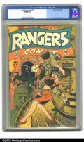Golden Age (1938-1955):War, Rangers Comics #16 (Fiction House, 1944) CGC VF/NM 9.0 Off-whitepages. Ingels and Tuska art. Overstreet 2002 NM 9.4 value =...