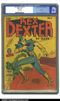 Golden Age (1938-1955):Science Fiction, Rex Dexter of Mars #1 (Fox Features Syndicate, 1940) CGC G/VG 3.0Off-white pages. Overstreet 2002 GD 2.0 value = $191; FN 6...