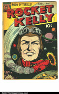 Golden Age (1938-1955):Science Fiction, Rocket Kelly #1 (Fox Features Syndicate, 1944). VG+, rare Gerber7....