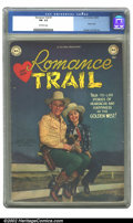 Golden Age (1938-1955):Western, Romance Trail #1 (DC, 1949) CGC FN- 5.5 Off-white pages. Photo cover; Kinstler and Toth art. Overstreet 2002 FN 6.0 value = ...