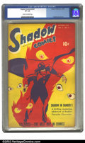 Golden Age (1938-1955):Crime, Shadow Comics Vol. 8, #7 (Street & Smith, 1948) CGC VF 8.0Cream to off-white pages. Overstreet 2002 VF 8.0 value = $270....