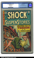 Golden Age (1938-1955):Horror, Shock SuspenStories #13 Double cover (EC, 1954) CGC FN/VF 7.0Off-white pages. Frank Frazetta's only solo story for EC. Wood...