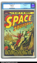 "Golden Age (1938-1955):Science Fiction, Space Squadron #3 Bethlehem pedigree (Atlas, 1951) CGC VG/FN 5.0Off-white pages. CGC notes ""3/4' tear on last 5 pages"". Geo..."
