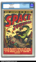 Golden Age (1938-1955):Science Fiction, Space Squadron #4 Bethlehem pedigree (Atlas, 1951) CGC VG/FN 5.0Cream to off-white pages. Overstreet 2002 GD 2.0 value = $4...