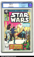 """Modern Age (1980-Present):Science Fiction, Star Wars #43 (Marvel, 1981) CGC NM/MT 9.8 Off-white to whitepages. Part 5 of """"Empire Strikes Back"""" movie adaptation; Al Wi..."""