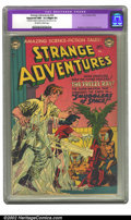 "Golden Age (1938-1955):Science Fiction, Strange Adventures #20 (DC, 1952) CGC NM- 9.2 Slight (P) Off-whiteto white pages. CGC notes ""Restoration includes: small am..."