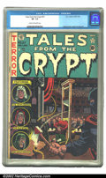 Golden Age (1938-1955):Horror, Tales From the Crypt #27 (EC, 1951) CGC VF- 7.5 Cream to off-whitepages. Overstreet 2002 VF 8.0 value = $287....