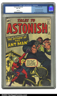 Tales to Astonish #35 (Marvel, 1962) CGC VF+ 8.5 White pages. Second appearance Ant-Man, first appearance in costume; Ja...