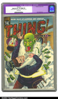 Golden Age (1938-1955):Horror, The Thing! #3 (Charlton, 1952) CGC Apparent VF 8.0 Slight (A)Off-white pages. Restoration includes: spine split sealed to c...